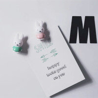 Miffy in pink & green 4 pack (fridge magnets) - perfect for your whiteboard!