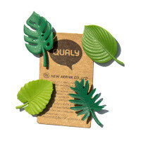 Tropical leaves 4 pack - fridge magnets. From Qualy.