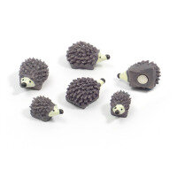 Hedgehog 6 pack, fridge magnets.