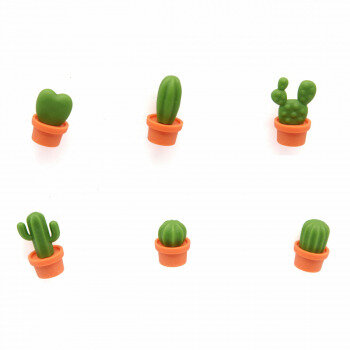 Different cactus fridge magnets from Qualy.