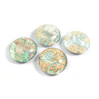 World map EYE 4-pack, fridge magnets from Trendform.
