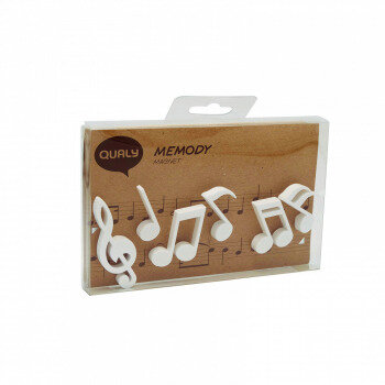 Note white 6 pack, fridge magnets. Bring the music to life!