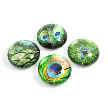 Peacock EYE 4 pack, fridge magnets. From Trendform.