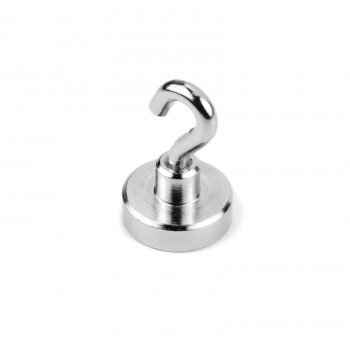 Pot magnet with hook 20 mm.