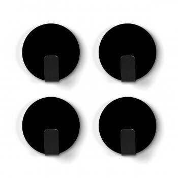 Black magnetic hooks from Trendform 4-pack