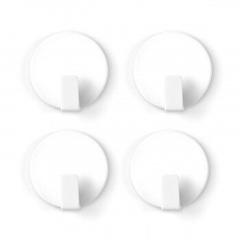 White magnetic hooks from Trendform 4-pack