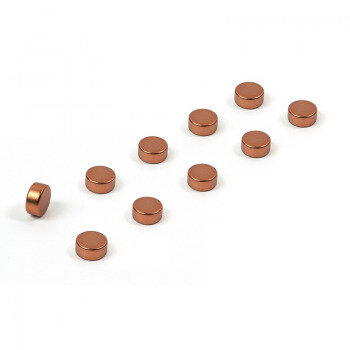 Copper plated magnets 6x3 mm. 10-pack from Trendform