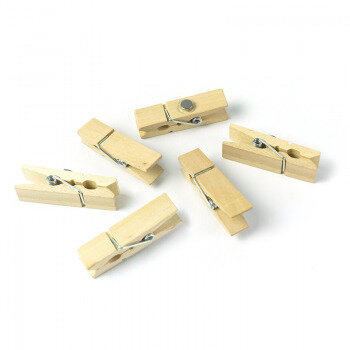 Woody clips are fun magnets for your fridge - package of 6 strong magnets for notes and pictures.