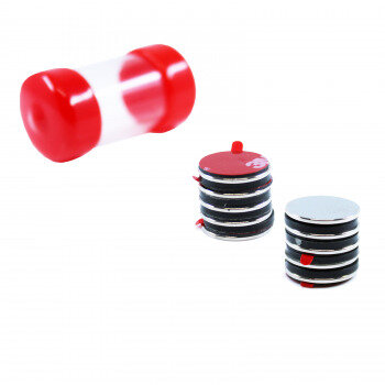 Power magnets Disc 15x1 mm. with glue, 10-pack