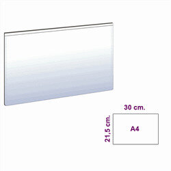 Magnetic A4 pockets, White (B)