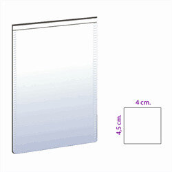 Small magnetic pocket size 4x4.5 cm., white