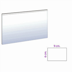 Magnetic pocket 9x6 cm. white