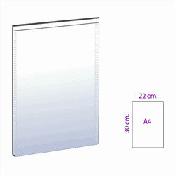 Magnetic pocket size A4 white, open at the short side