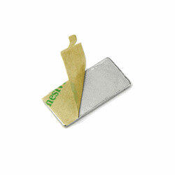Power magnets with glue, 30x10x1 mm. 10-pack