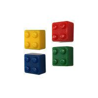 Colourful brick magnets 4-pack from Trendform