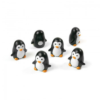 6-pack of magnetic penguins from Trendform Magnets