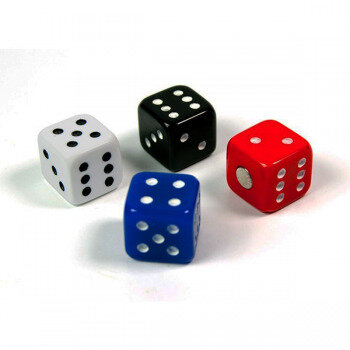 4 fun dice fridge magnets from Trendform