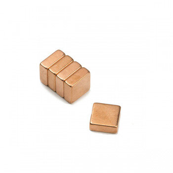 Copper magnets 10x10x4 mm made of neodymium N40