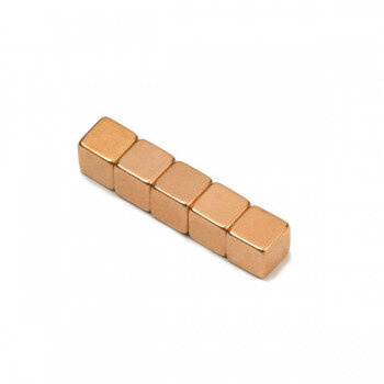 Copper magnet 7x7x7 mm. neodymium - sold seperately