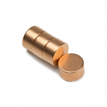 Copper magnet 15x8 mm neodymium N42 - power magnets sold seperately