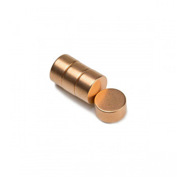 Copper plated power magnets 12x6 mm - sold seperately