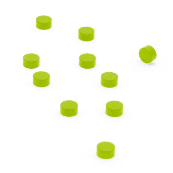 Green power magnets 6x3 mm. 10-pack