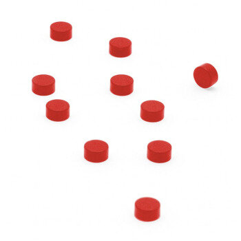 Red power magnets 6x3 mm. 10-pack