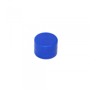 Blue rubberised magnet 16x11 mm. made with neodymium
