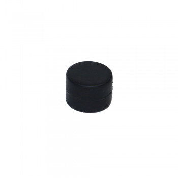 Black rubberised magnet made with neodymium magnet 16x11 mm.