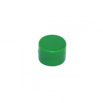 Green rubberised magnet 16x11 mm. made with neodymium magnet