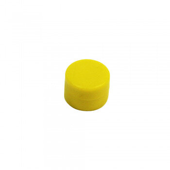 Yellow rubber magnet 16x11 mm. made with neodymium