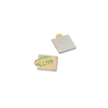 Block magnet with glue 10x10x1 mm. neodym.